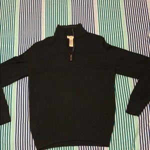 Black Zip-up Sweater